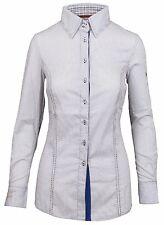 L' ARGENTINA POLO Damen Bluse Shirt Größe 38 M Baumwolle & Elasthan Gestreift