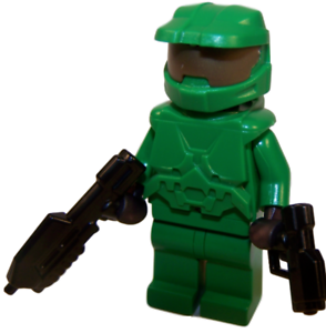 New lego custom master chief halo spartan green - Lego spartan halo ...