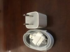 New! OEM Quality Apple iPhone 4 4S 30 Pin USB Data Cable + Wall Charger