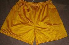 HIBBETT SPORTS Youth Lined Mesh Training Athletic Shorts Gold Yellow XL X-Large