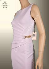 IVANKA TRUMP Women Dress Size 16 WOOD ROSE Knee CHAIN ACCENT Sleeveless LBCUSA