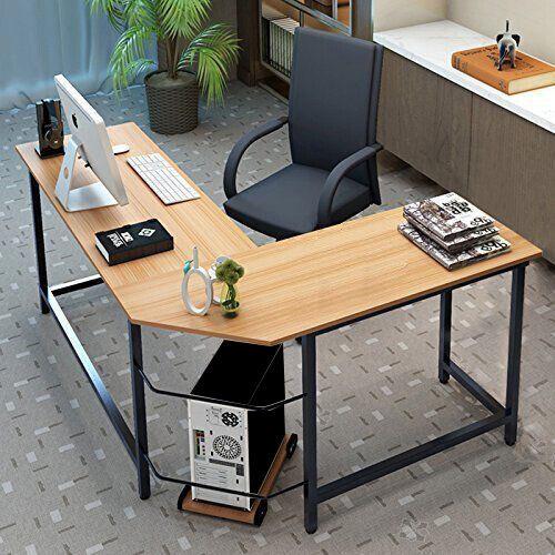 L-Shaped Corner Computer Desk Workstation Home Office Study