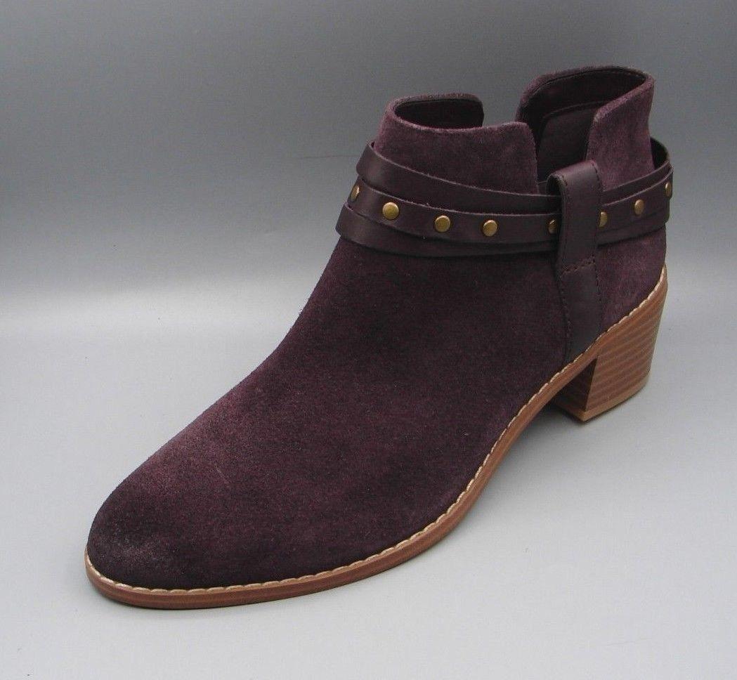 BRECCAN SHINE Clark's Women Ladies AUBERGINE Suede Boots size UK 7.5 D.