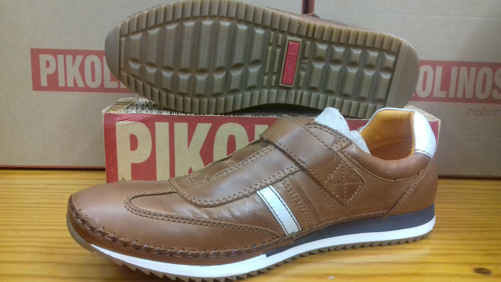 Pikolinos shoes footwear m2a-6021 brandy shoes skor leather leather leather velcro mens brown d3a2d6