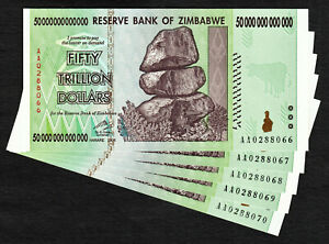 UV Passed Zimbabwe 100 TRILLION Dollars AA 2008 Pick-91 UNC AUTHENTIC
