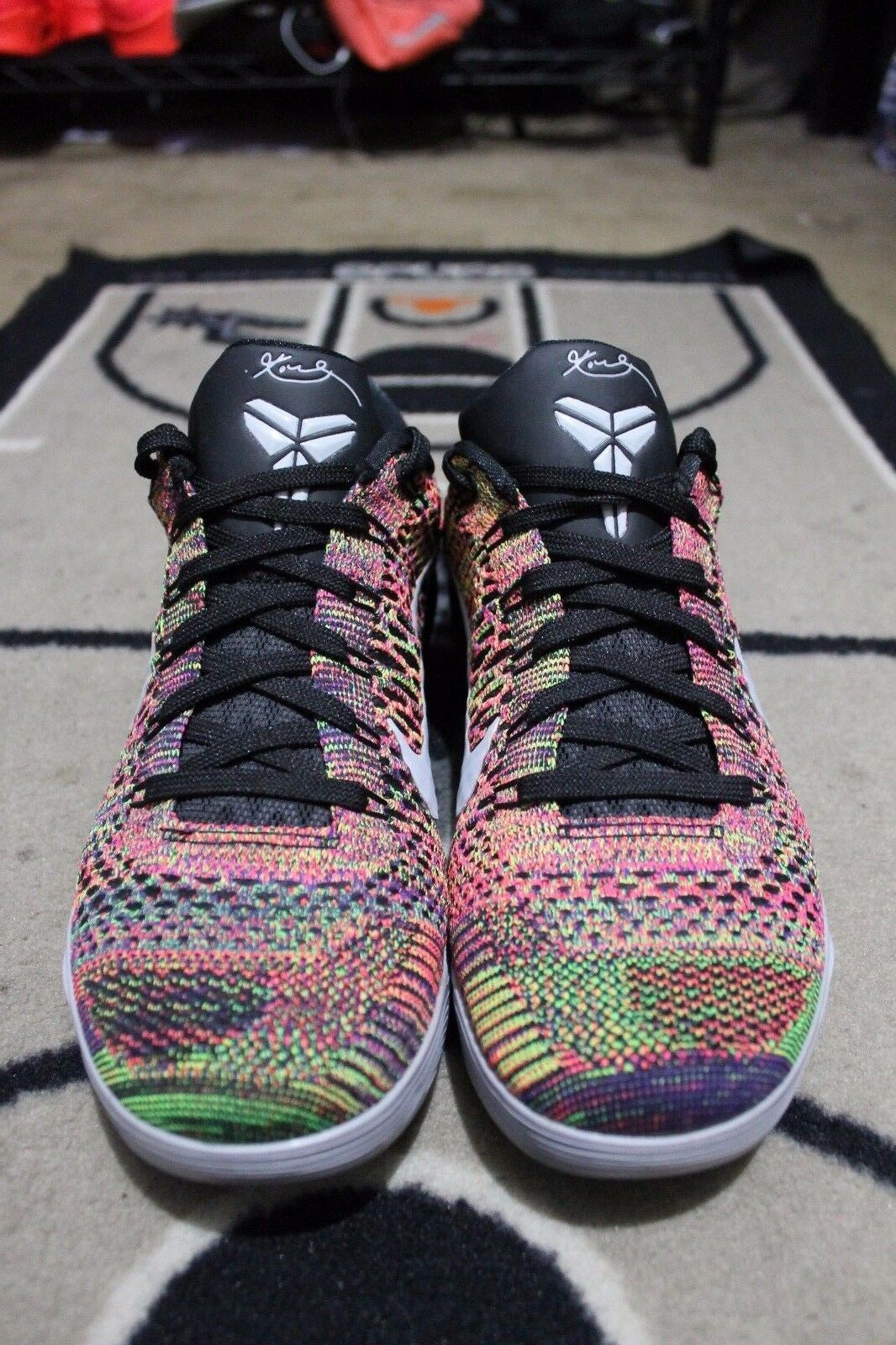 DS Nike iD Kobe 9 Elite Flyknit Mamba Moment SZ 8 Multicolor Grey