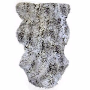 Black Tips Washable Sheepskin Rug