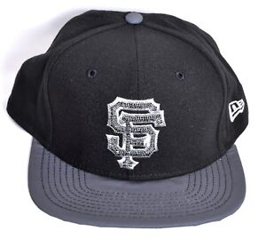21f1c4a4d5e SAN FRANCISCO GIANTS New Era Champs Snapback Hat Cap Black 9Fifty ...