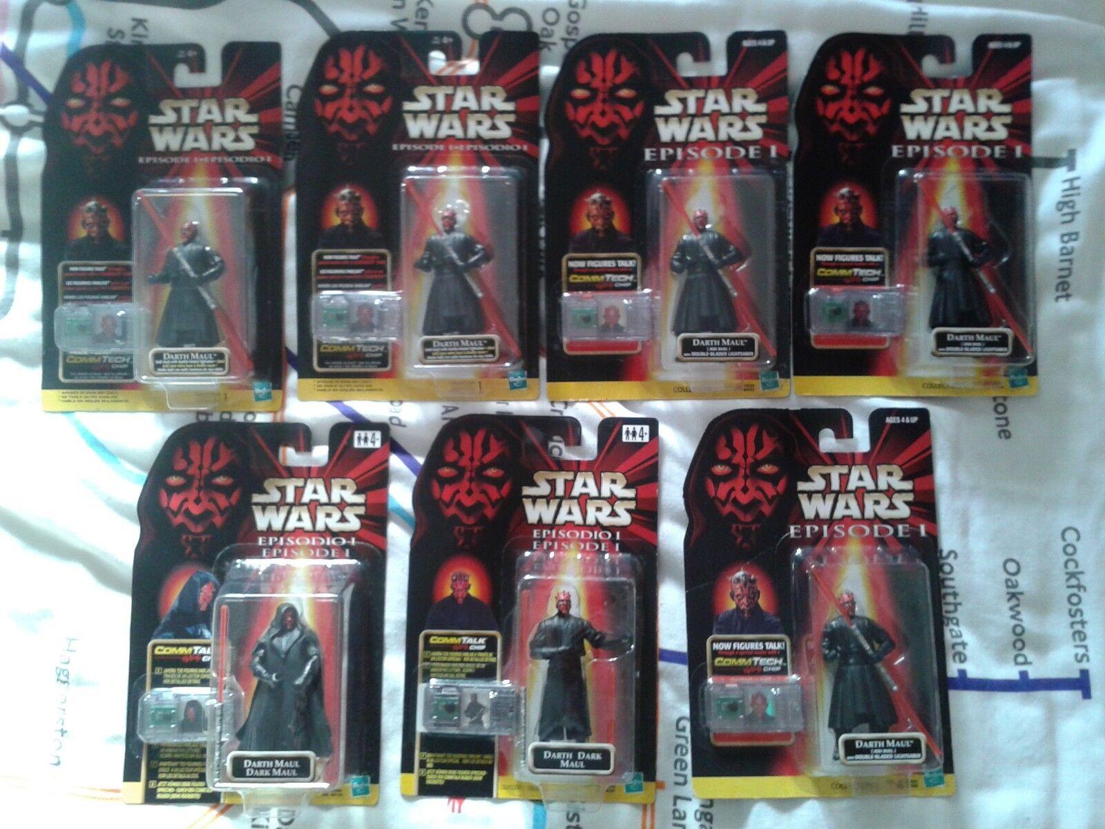 Star wars ep1 darth maul figures mosc 1998