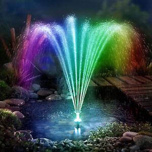 Détails sur LED Pompe Solaire avec Batterie pour Étang de Jardin Fontaine  Bassin Puit