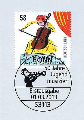 AnpassungsfäHig Brd 2013: Jugend Musiziert Nr. 2991 Mit Dem Bonner Ersttags-sonderstempel! 1a!