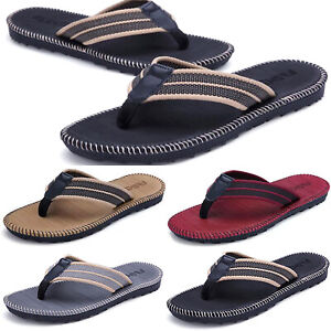 Mens-Summer-Flip-Flops-Slippers-Casual-Holiday-Beach-Toe-Post-Soft-Sandals-Shoes
