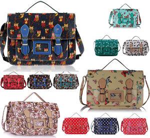 Image Is Loading Women 039 S Large Satchel Owl Erfly Bags
