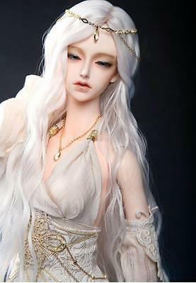 "7-8"" Wig 1/4 MSD BJD Long Curly White hair Mini Super Dollfie AOD DL DOD DK Luts"