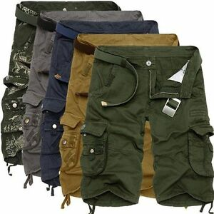 2018-Algodon-Hombre-Verano-Cool-Ejercito-Pantalones-de-Combate-Camuflaje-Trabajo