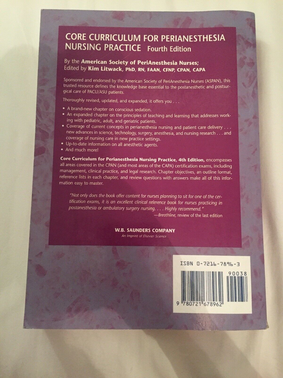 Core Curriculum For Perianesthesia Nursing Practice By American
