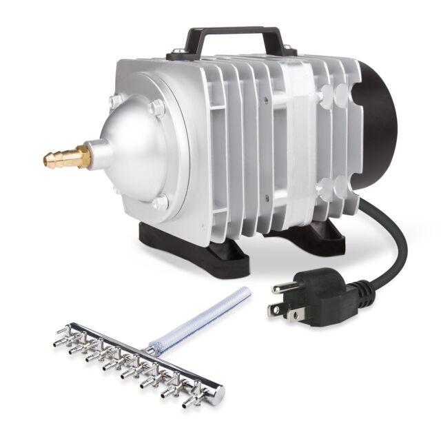 VIVOSUN 1100 GPH 8 Outlet O2 Air Pump for Aquarium Fish Tank Hydroponic Pond 50W