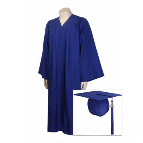 Graduation Gown Cap Matte Tassel Set 2019 All Sizes for Adult Bachelor Unisex