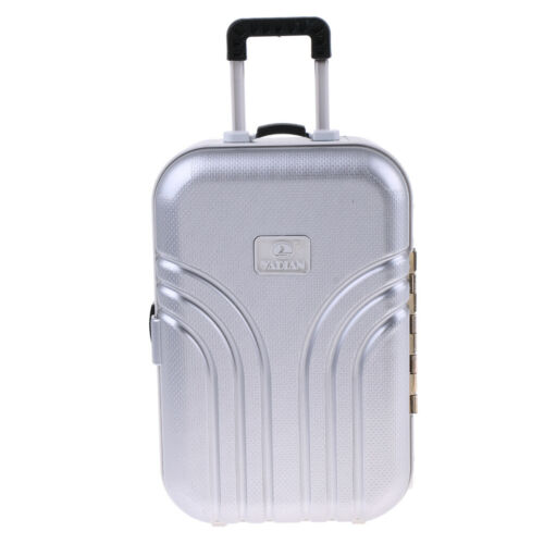 1//6 Scale Dollhouse Suitcase Luggage Case Toy Dolls Accessories Silver