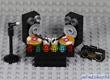 LEGO -  DJ Deck w/ Microphone Speaker Boombox - Table Karaoke Singer Minifigure
