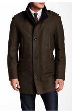 New Authentic Hugo Boss BlackLabel Stand Up Collar Men Jacket Coat Brown 40 $995