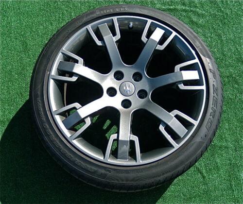 Genuine OEM Factory MASERATI Dark Grey Wheel CENTER CAP Granturismo Quattroporte