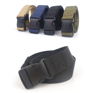 Men-Quick-Release-Buckle-Military-Trouser-Belt-Army-Cobra-Tactical-Nylon-Webbing
