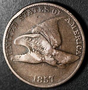 1857-FLYING-EAGLE-CENT-Near-FINE