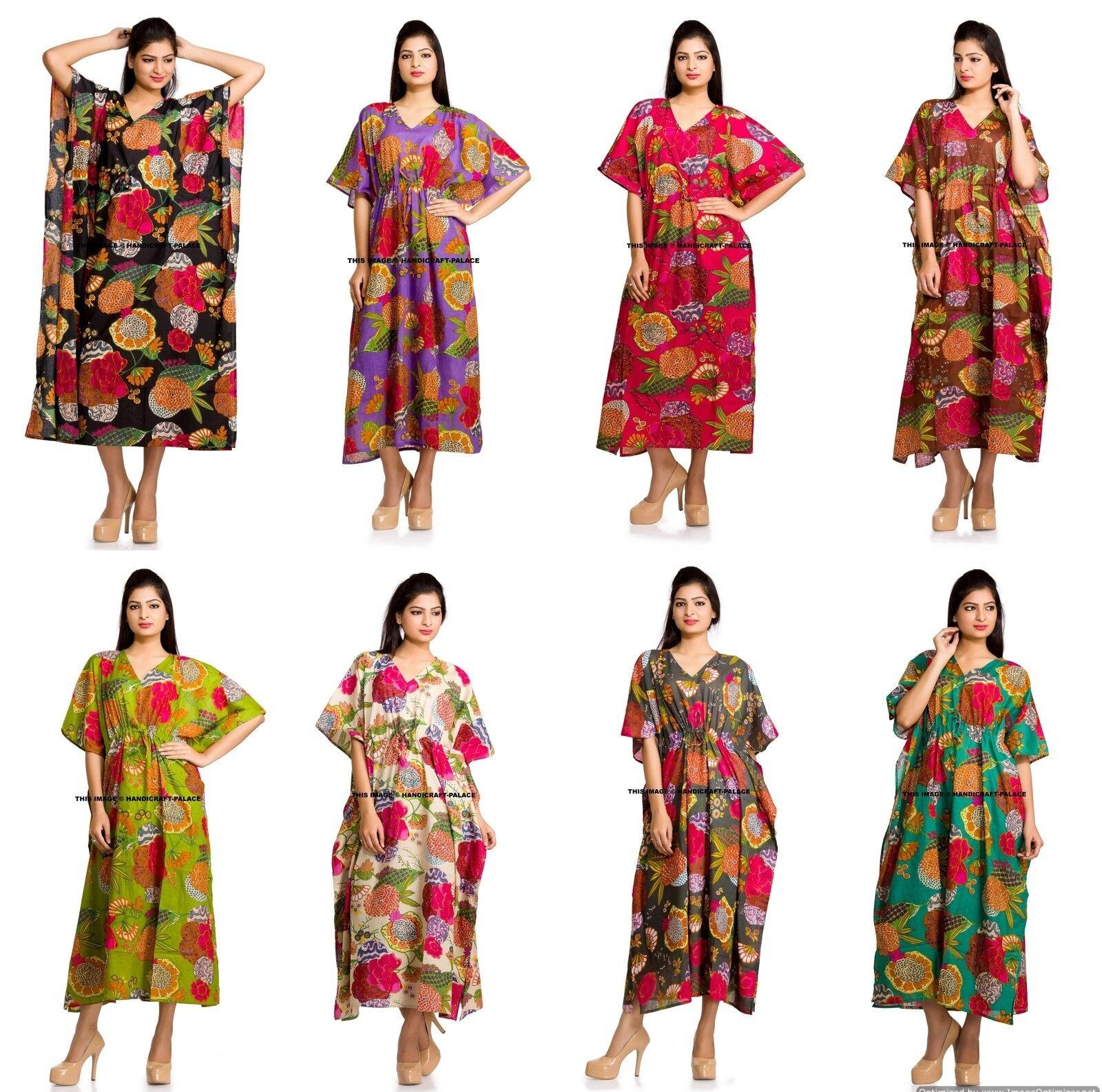 Großhandel Viel 20 PC Lang Strand Maxi Kaftan Kleid Sortierte Farben One Größe