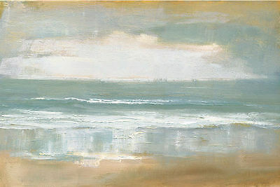Shoreline Keilrahmen-Bild Leinwand Meer Küste Horizont Wolken Caroline Gold