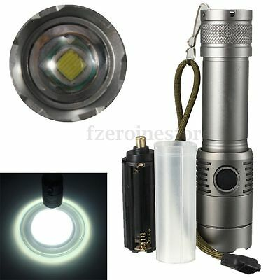 3000Lm T6 LED Rechargeable Zoomable 18650 AAA Flashlight Torch Light  Lamp