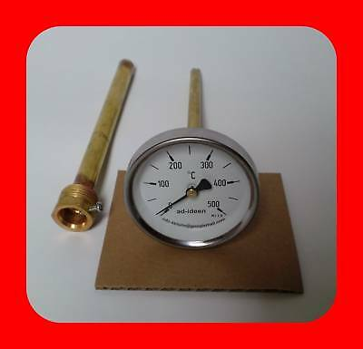 ad-ideen 500/°C Thermometer Ofenthermometer Holzbackofen 20 cm