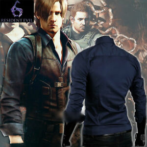Details About Resident Evil 6 Leon Scott Kennedy Male Long Sleeve Shirt Tops Costume Cosplay