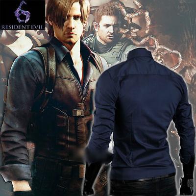 Resident Evil 6 Leon Scott Kennedy Male Long Sleeve Shirt Tops