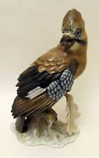 "Rare Vintage Hand Painted 11.5"" Large Rosenthal Jay-bird Figurine Heidenreich"