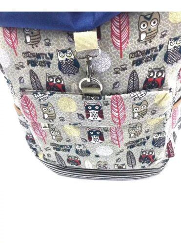 Owl Ladies mujerCute Travel Girls Rucksack Backpack Gym School wtP8q8x