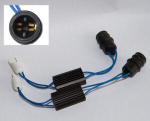 2-modules-Ampoules-W5W-T10-Resistances-5w-Anti-Message-erreur-Defaut-ODB-LED