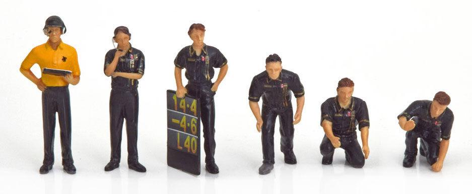 HCA TrueScale tsm12ac09 Pit Crew Figuras Equipo Lotus F1   Jps   (juego De 6) 1 43 Escala