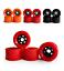 4pcs-Skateboard-Wheels-Pro-Road-Racing-Longboard-Wheel-Red-amp-Black-amp-Orange-83mm thumbnail 1