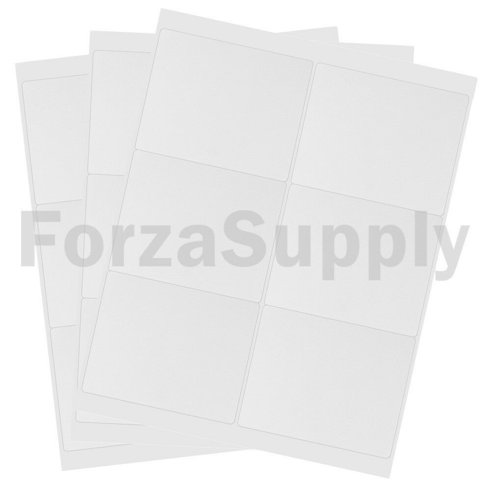 (6000) 4 x 3 1 3 EcoSwift Laser Ink Address Shipping Adhesive Labels 6 per sheet