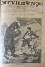 JOURNAL DES VOYAGES N° 875 de 1894 MOLDAVIE BOYARD OURS AFRIQUE MISSION MIZON