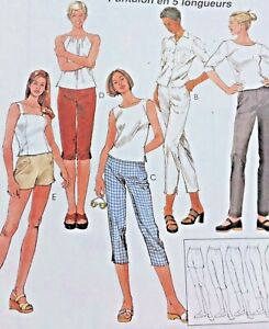 McCalls-Sewing-Pattern-2157-Slim-Pants-5-Lengths-Uncut-Easy-Size-4-6-8-Capri