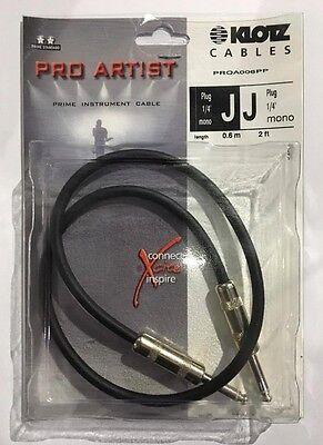 Klotz KLO-PRONO ProArtist Series Premium Guitar Pro Artist Cable 10 Foot