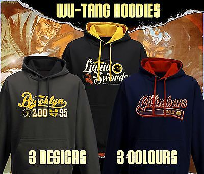 Actual Fact Wu-Tang Clan Hoodie 36 Chambers Rza Gza Method man Rakim