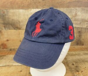 7030d7cac6b Polo Ralph Lauren Hat Cap 3 Big Pony Logo MCMLXVII Adjustable Blue ...
