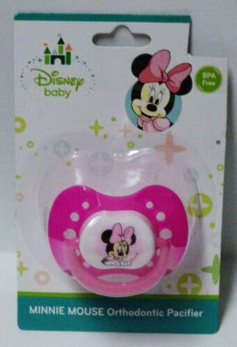 Disney Baby Minnie Mouse Orthodontic Pacifier BPA Free Dark /& Light Pink NIP