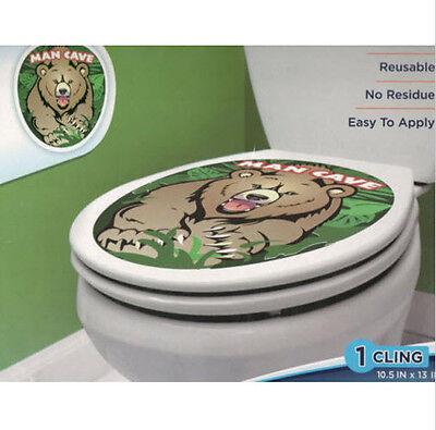 TOILET BOWL SEAT DECORATION Heart Flowers cling bathroom lid decal peel sticker