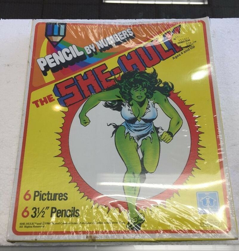 1980 Pencil by Numbers The SHE-HULK by Hasbro