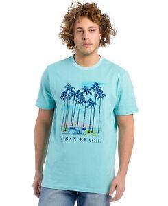 Urban-Beach-Mens-Traveller-T-Shirt-Light-Blue-Medium-BOX72-28-G