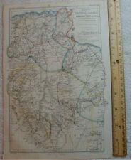 Africa - Central Sahara Map 1863 Algeria Tunisia Libya